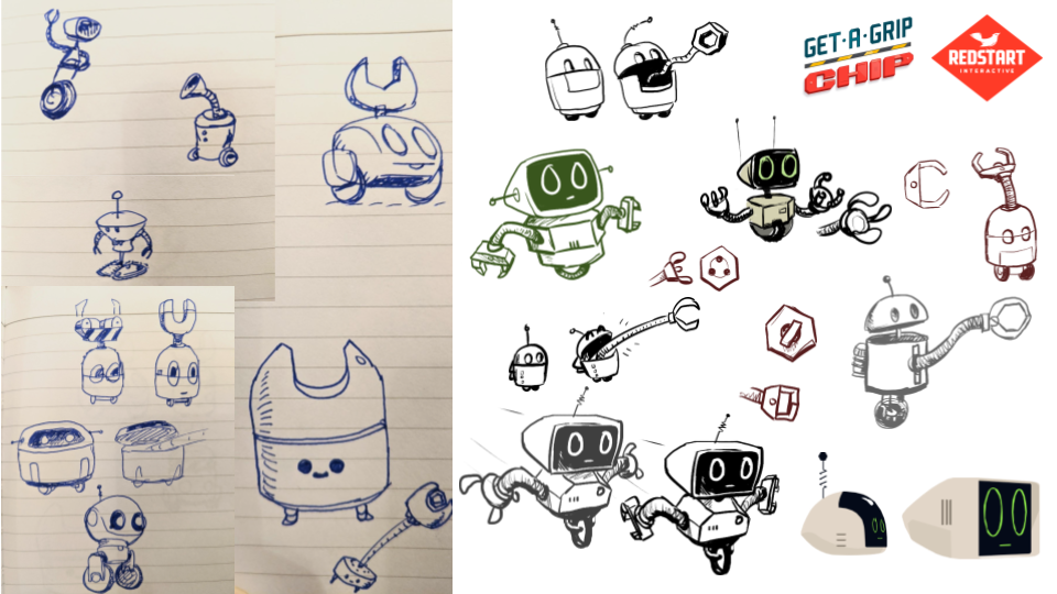 Early sketches of Chip
